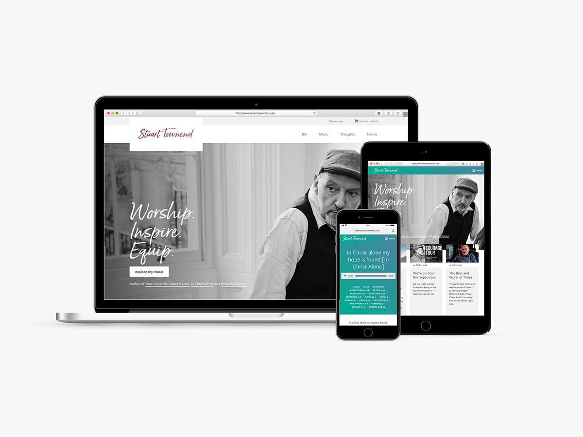 Stuart Townend website screenshots