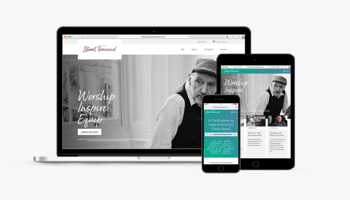 Read more about Website relaunch for Stuart Townend