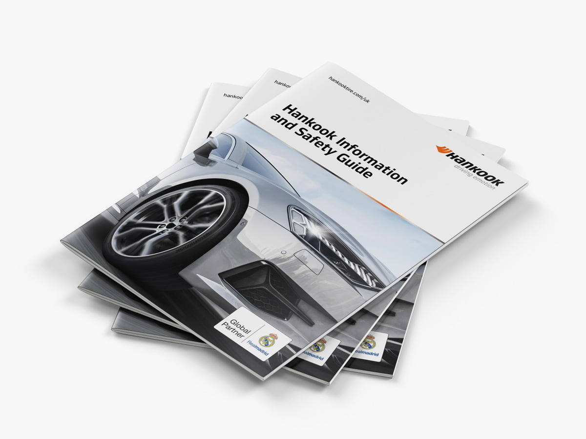 Hankook Safety Guide cover depicting car and logo
