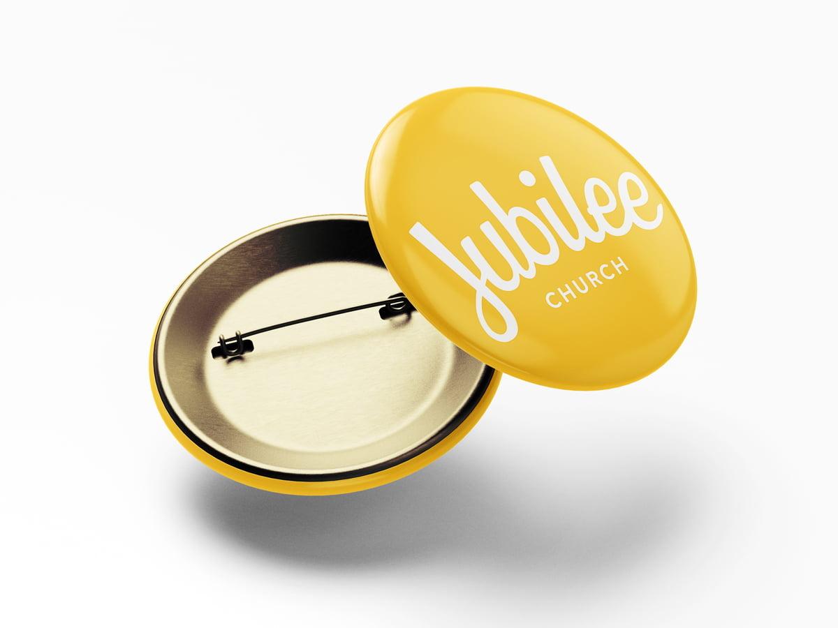 Jubilee Church logo pin badge