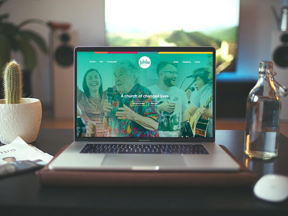 Jubilee website homepage on a laptop screen