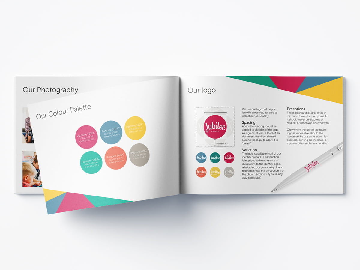Jubilee style guide logo and colour pages