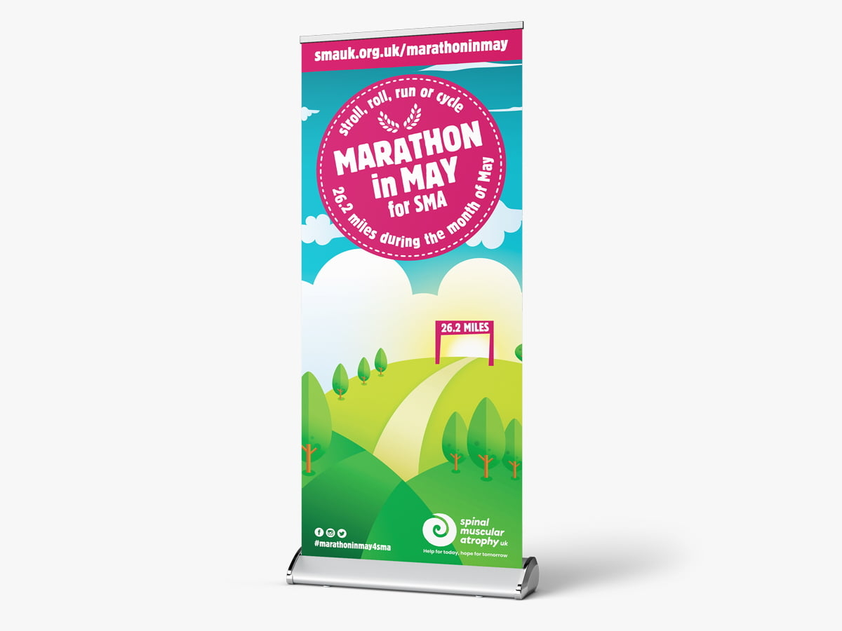Marathon in May Roll-up Banner