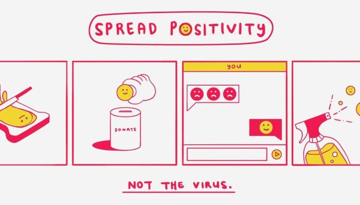 Spread positivity, not the virus illustration